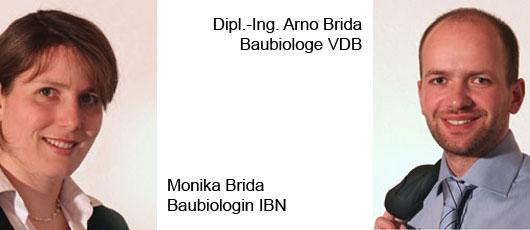 Portraits von Monika Bida, Baubiologien IBN (links) und Arno Brida, Dipl.-Ing. Arno Brida, Baubiologe VDB